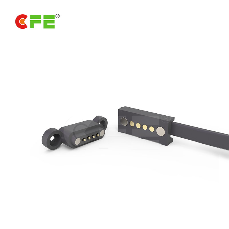 Usb cable magnetic 4 pin pogo pin connector for communication