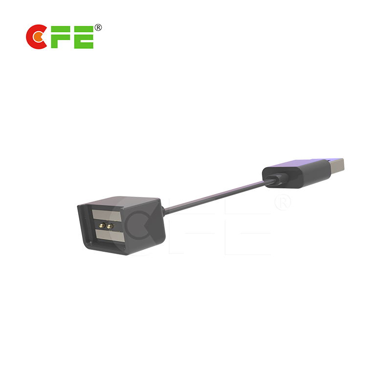 2pin magnetic pogo pin usb connector for GPS locator