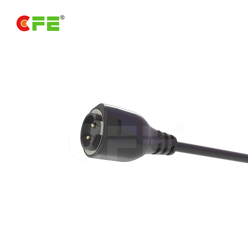 2pin smart wearable magnetic charging cable connector with USB