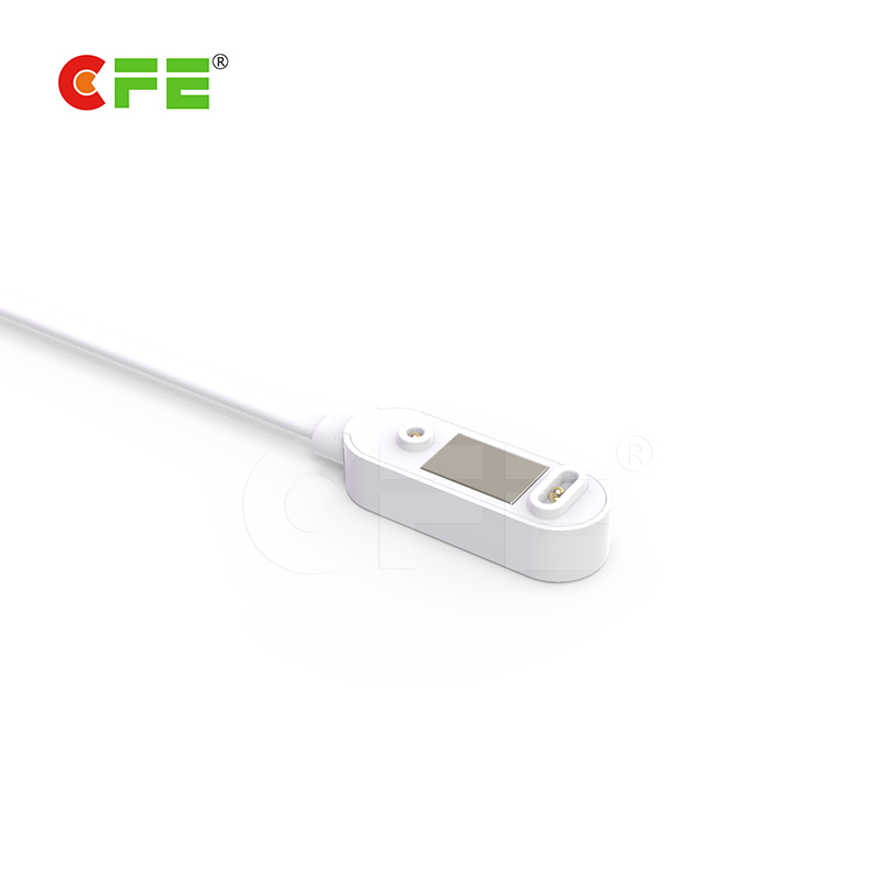 2 pin magnetic cable connector for smart wear