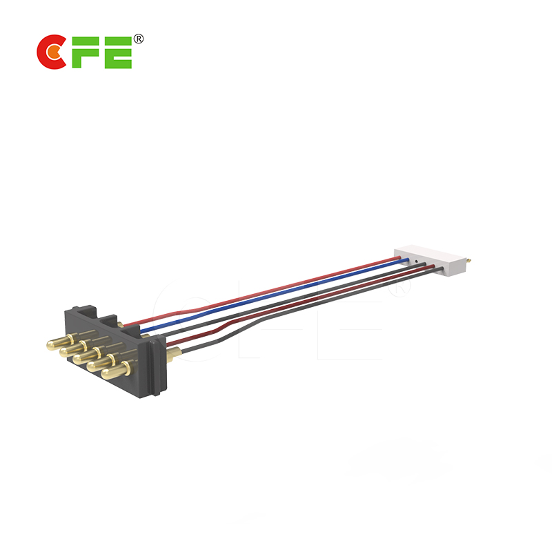 Custom 5pin male pogo pin connector with cable