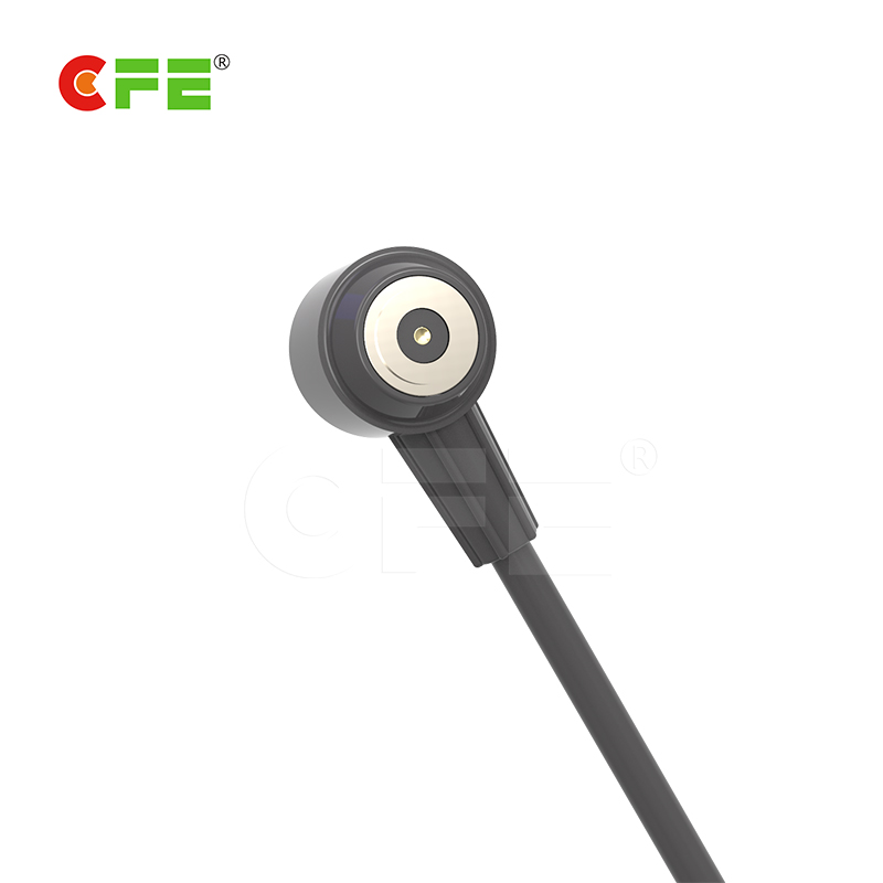 Round type pogo pin charging cable connector