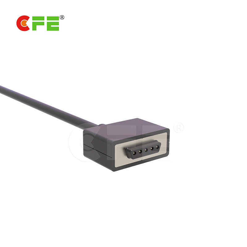 magnetic power pogo pin connector