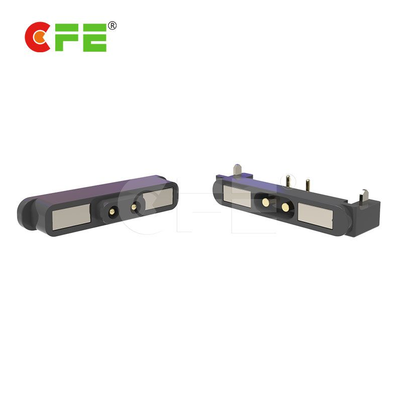 High class 2 pin square magnetic electrical connector for medical requirement