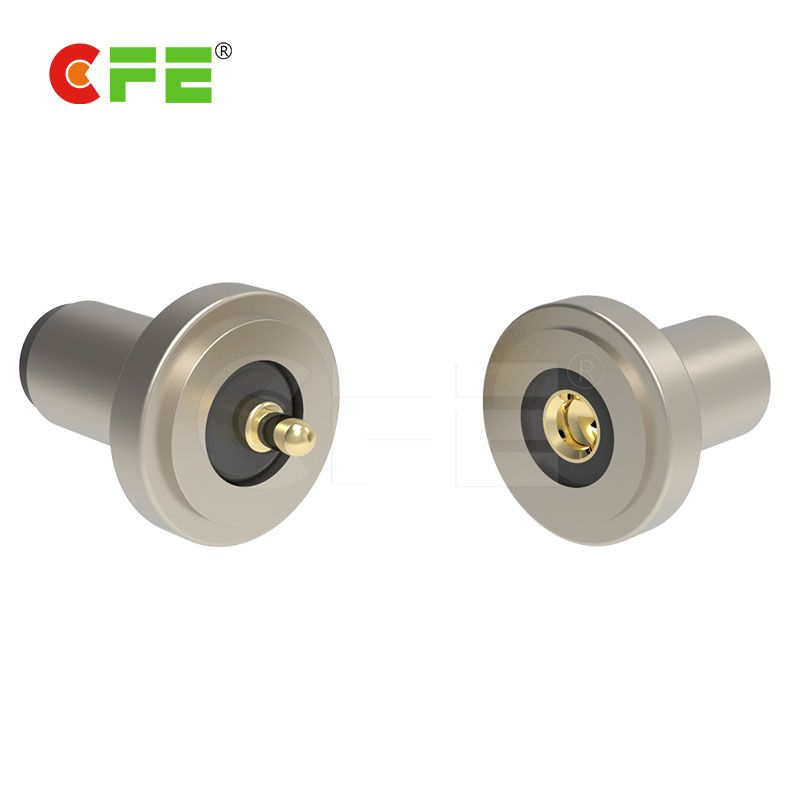 Magnetic male & female connector for desk lamp